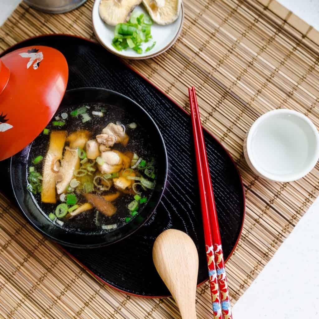 keto Chicken and Shiitake Mushroom Umami Soup pic