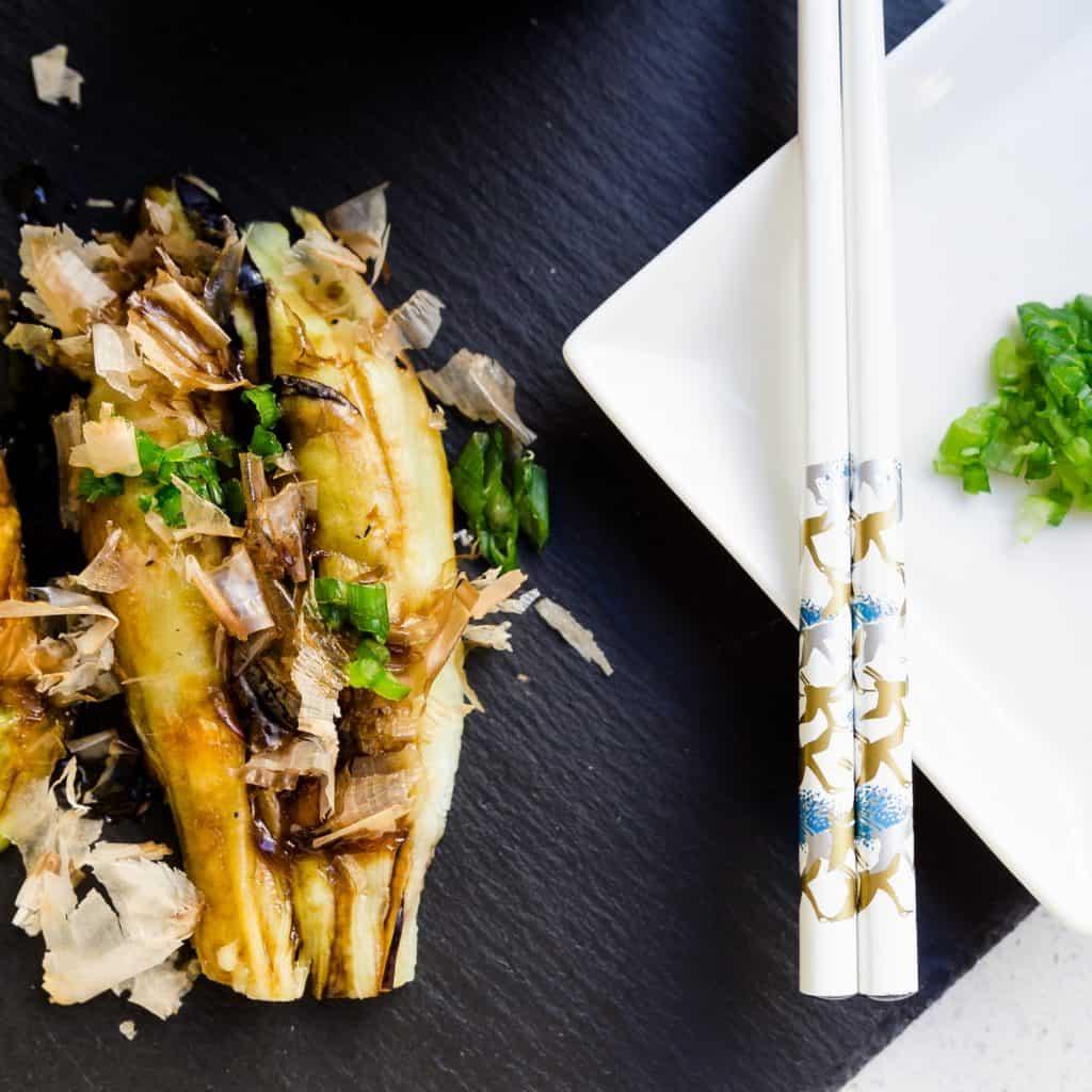 keto Japanese Roasted Eggplants with Umami Soy Glaze Yakinasu pic