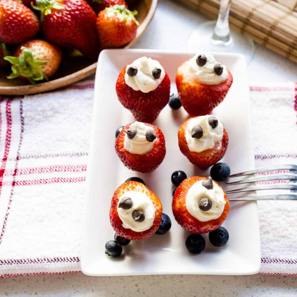 keto Cheesecake Stuffed Strawberry pic