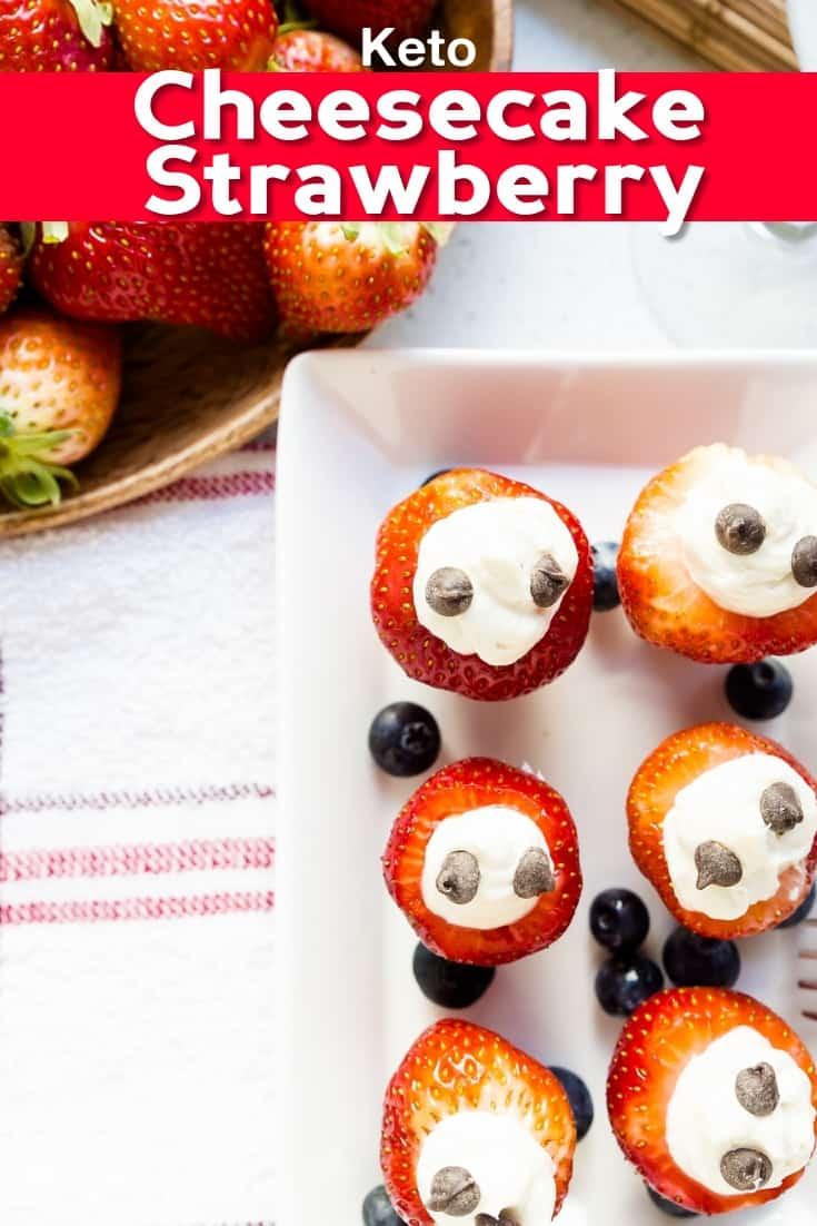 keto Cheesecake Stuffed Strawberry pin 2