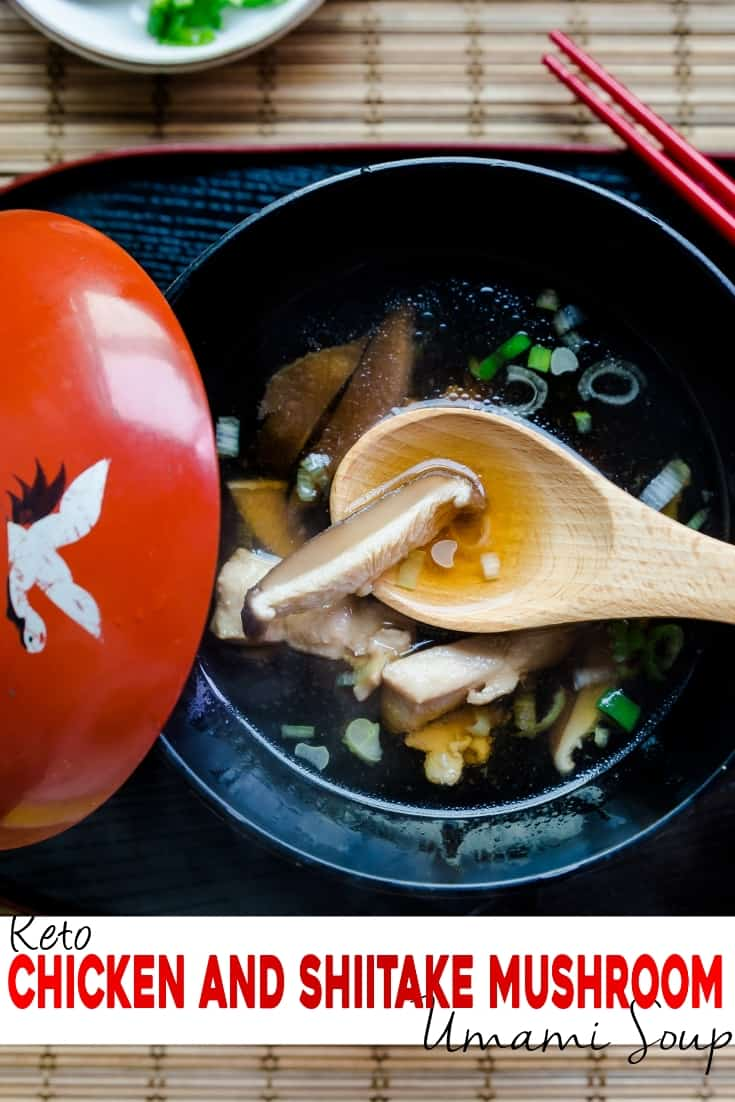 keto Chicken and Shiitake Mushroom Umami Soup pin 2