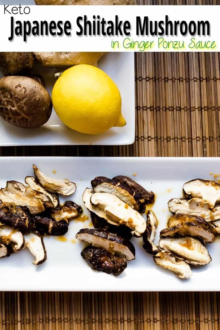 keto Japanese Shiitake Mushroom in Ginger Ponzu Sauce pic 1