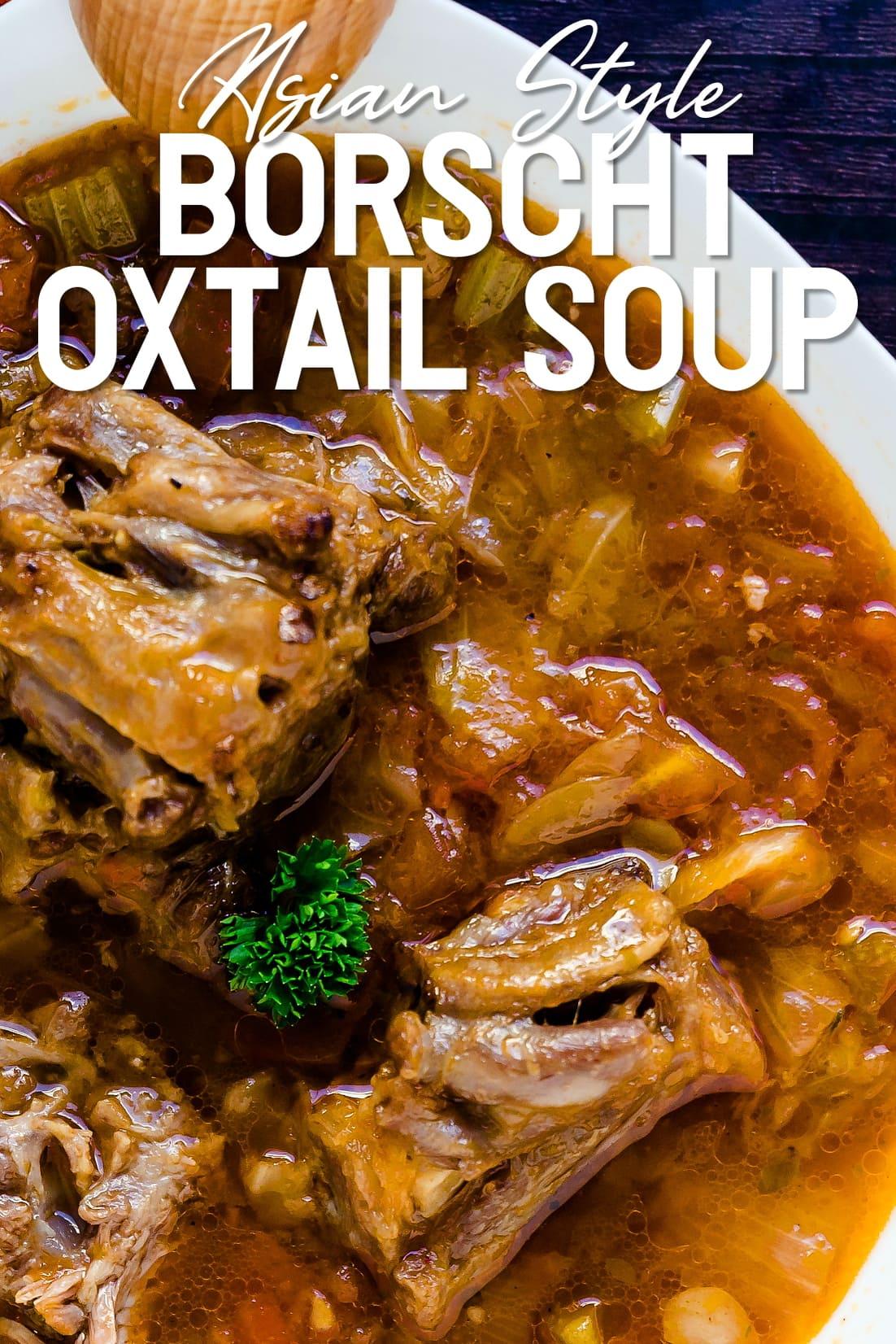 Asian Style Oxtail Borscht Soup Top Down