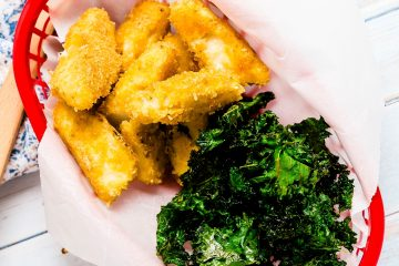 Baked Fish n Chips with Japanese Mayo Sauce LowCarbingAsian Cover