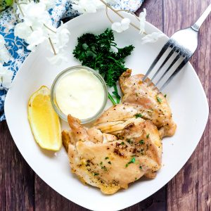 Butter Baked Chicken with Garlic Lemon Aioli LowCarbingAsian Cover