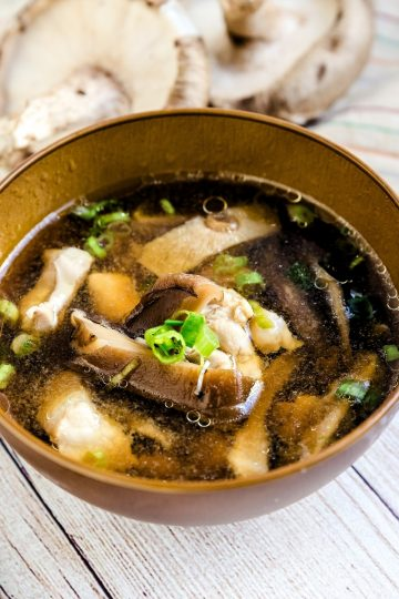 Chicken and Shiitake Mushroom Soup LowCarbingAsian Cover