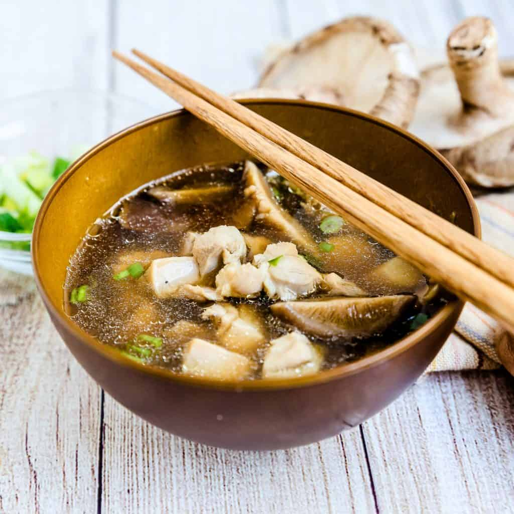 Chicken and Shiitake Mushroom Soup LowCarbingAsian Pic 1