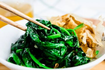 Garlic Spinach Stir Fry LowCarbingAsian Cover