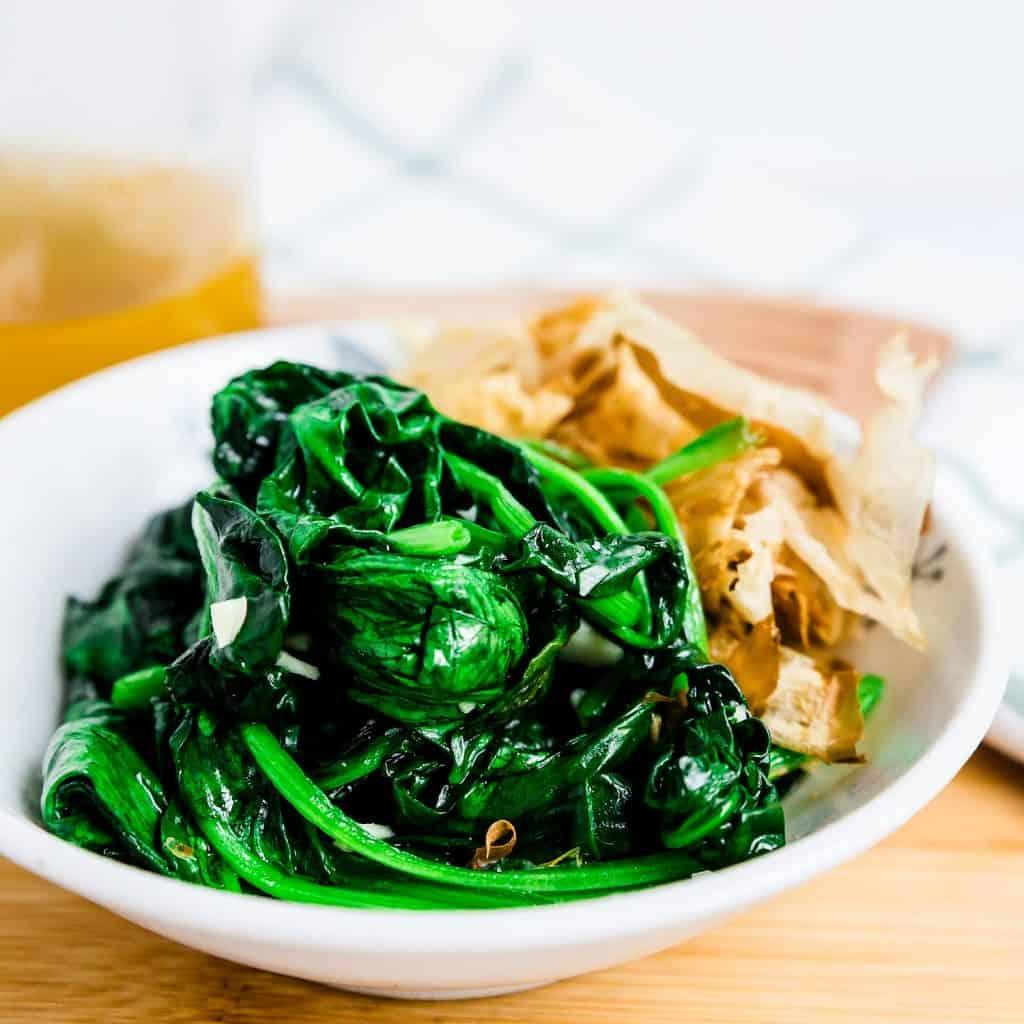 Garlic Spinach Stir Fry LowCarbingAsian Pic 2