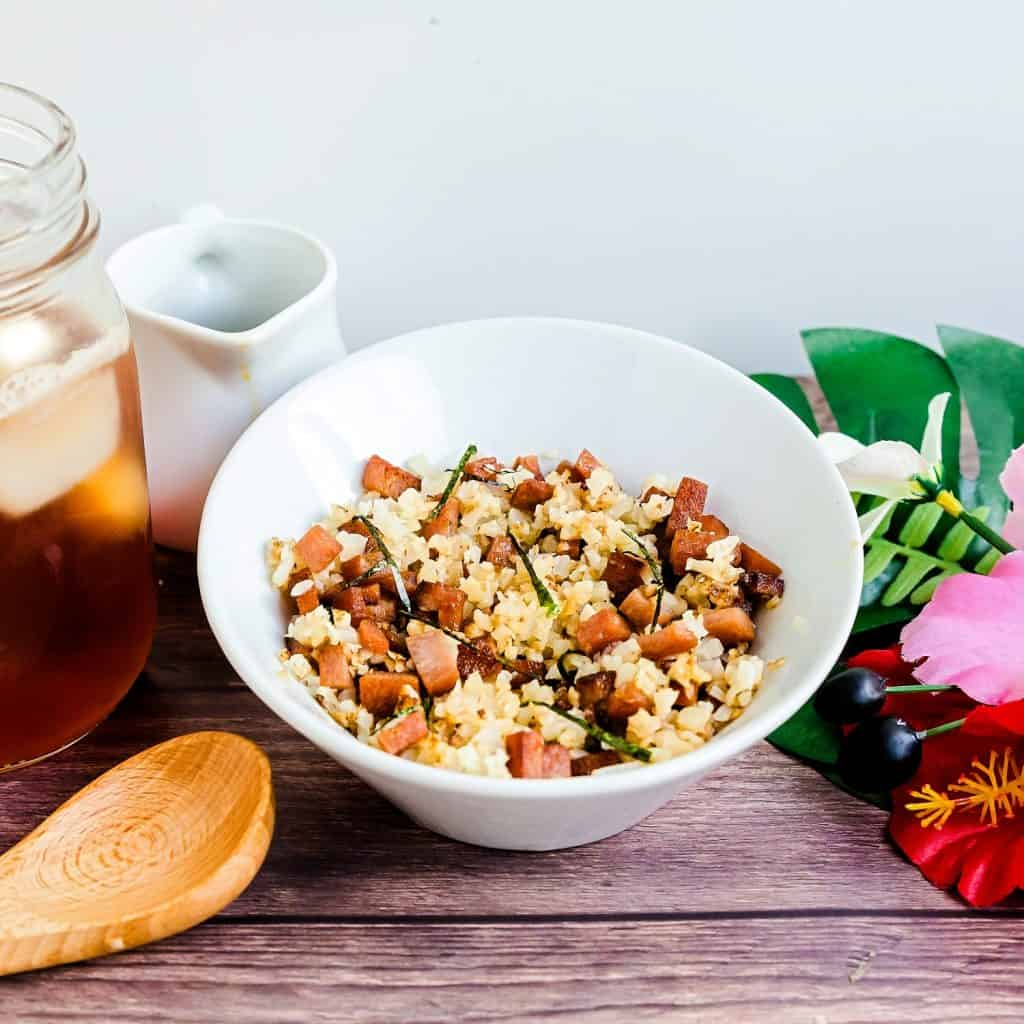 Hawaiian Garlic Spam Musubi in a Bowl LowCarbingAsian Pic 1