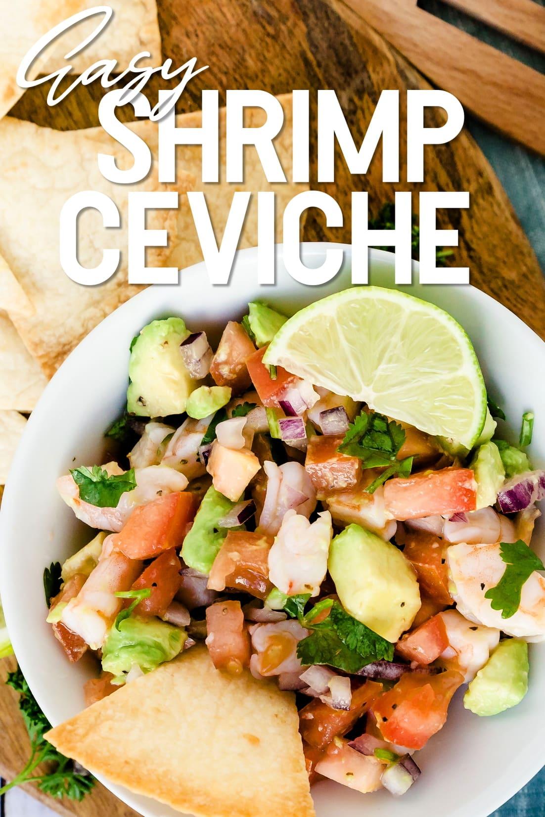 Shrimp Ceviche Top Down Shot