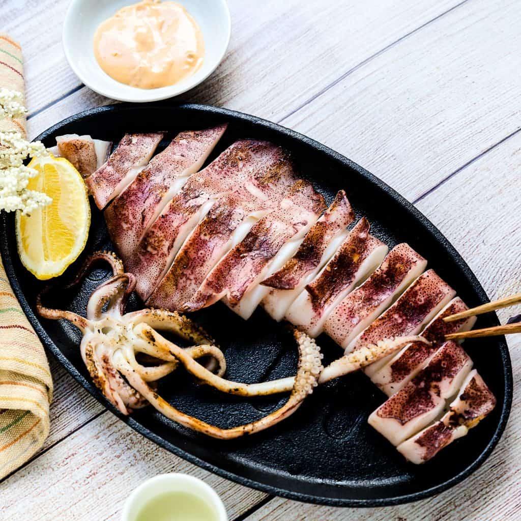 Japanese BBQ Calamari with Spicy Miso Mayo LowCarbingAsian Pic 3
