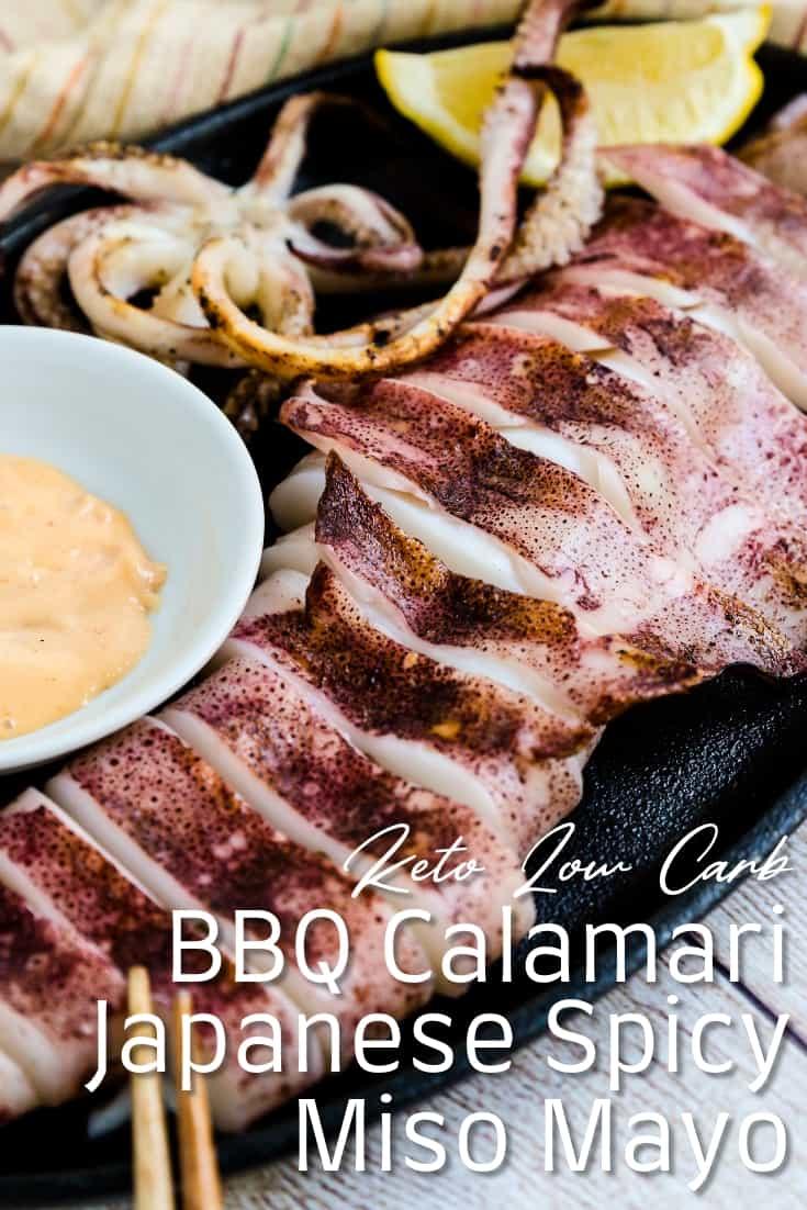 Japanese BBQ Calamari with Spicy Miso Mayo
