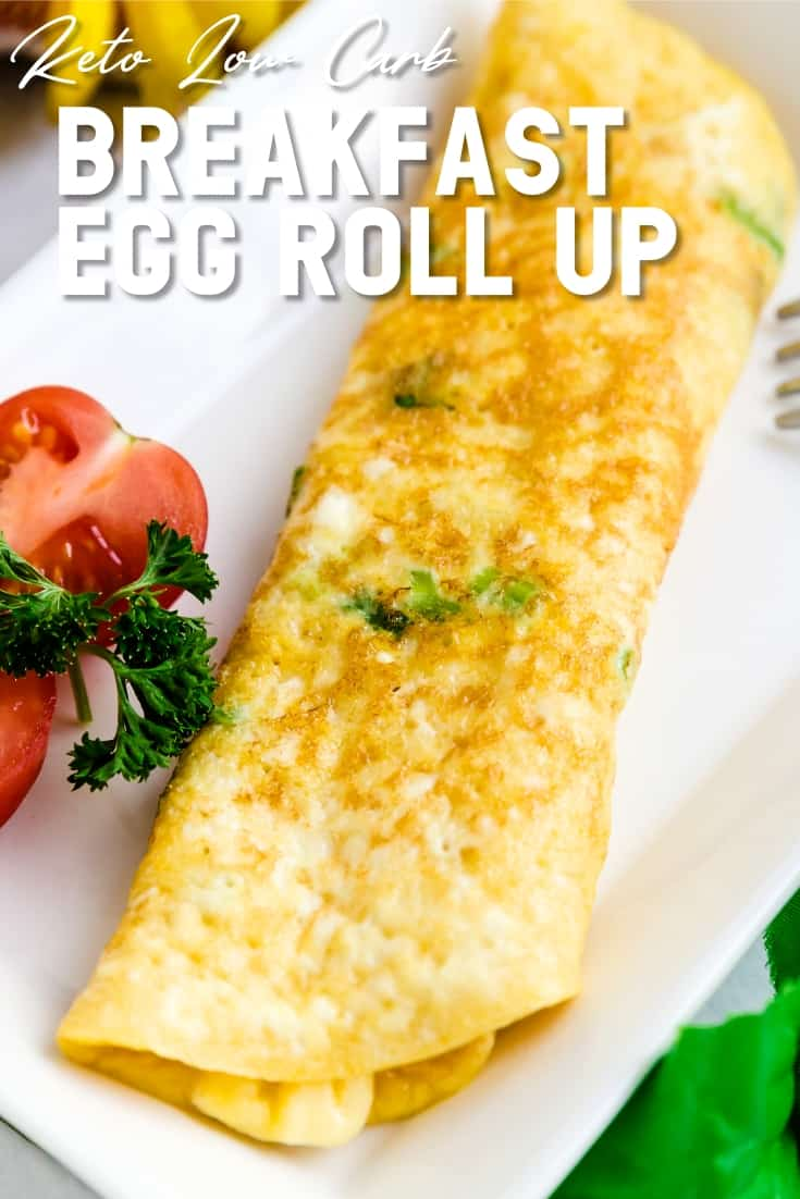 Keto Low Carb Japanese Breakfast Egg Roll Up