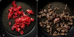 Japanese Garlic Beef Cauliflower Fried Rice - Chahan Recipe (34)