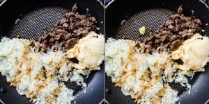 Japanese Garlic Beef Cauliflower Fried Rice - Chahan Recipe (37)