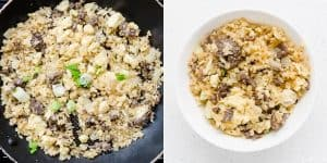 Japanese Garlic Beef Cauliflower Fried Rice - Chahan Recipe (39)