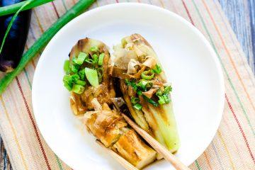 Japanese Roasted Eggplants with Soy Glaze - Yakinasu LowCarbingAsian Cover