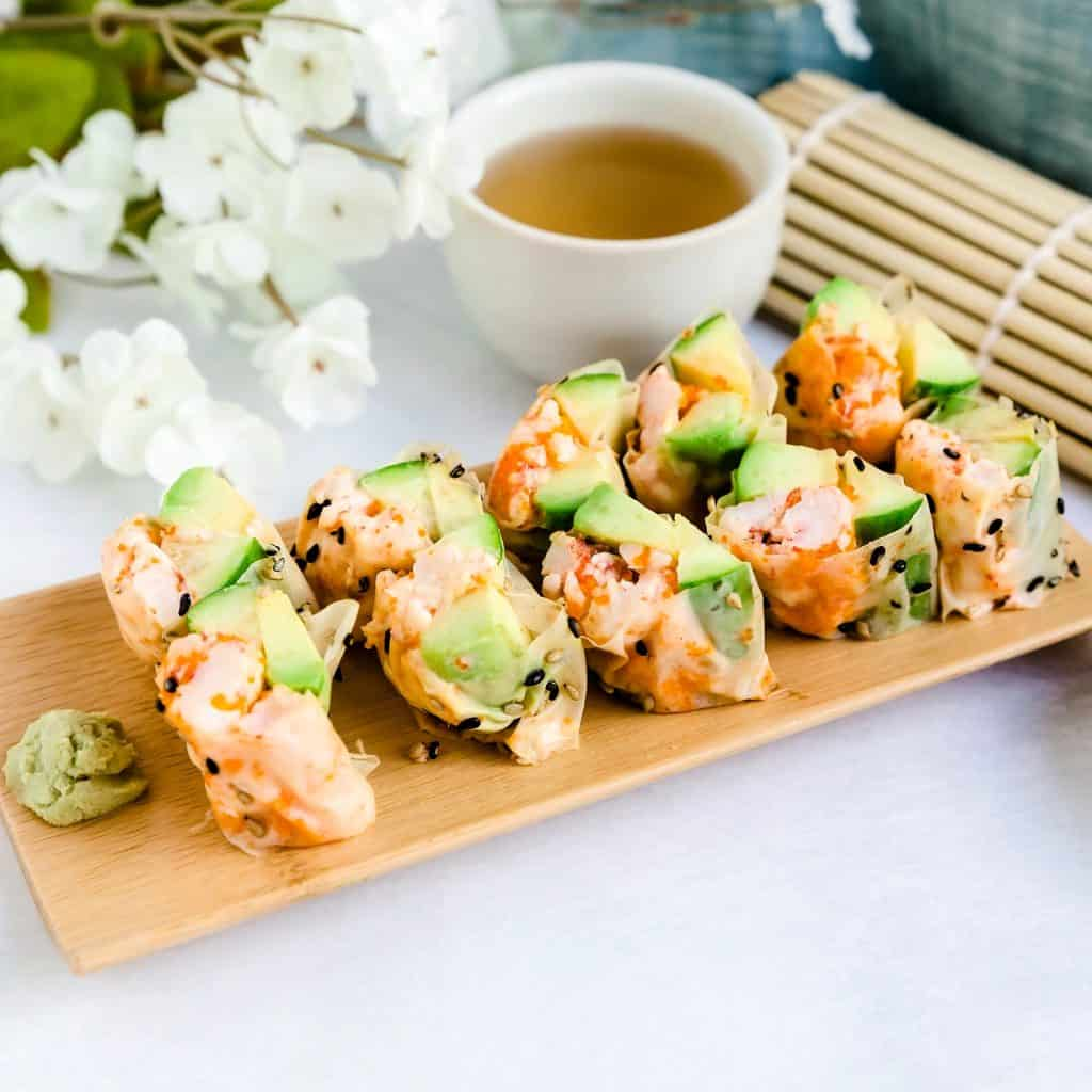 Lobster Sushi Rolls LowCarbingAsian Pic 1