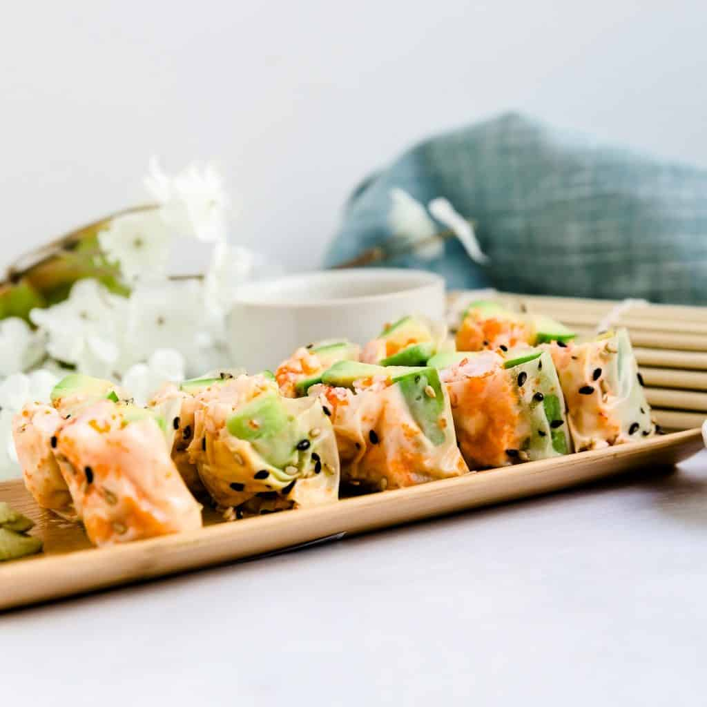 Lobster Sushi Rolls LowCarbingAsian Pic 2