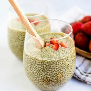 Matcha Chia Pudding LowCarbingAsian Cover
