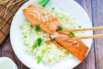 Miso Salmon Marinade wCauliflower Rice LowCarbingAsian Cover