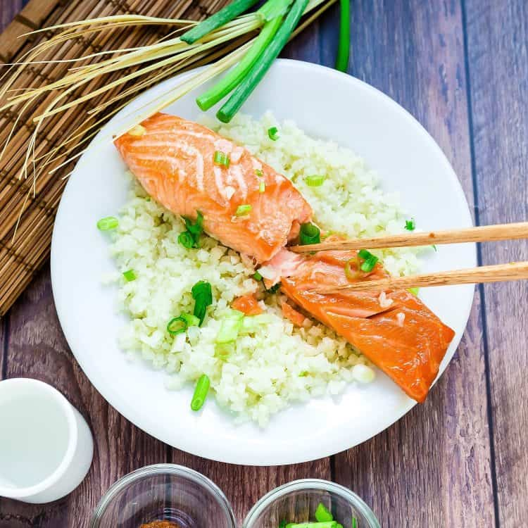 Miso Salmon Marinade wCauliflower Rice LowCarbingAsian Cover