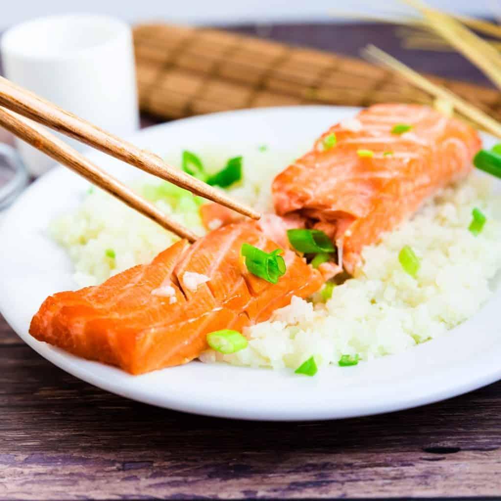 Miso Salmon Marinade wCauliflower Rice LowCarbingAsian Pic 1