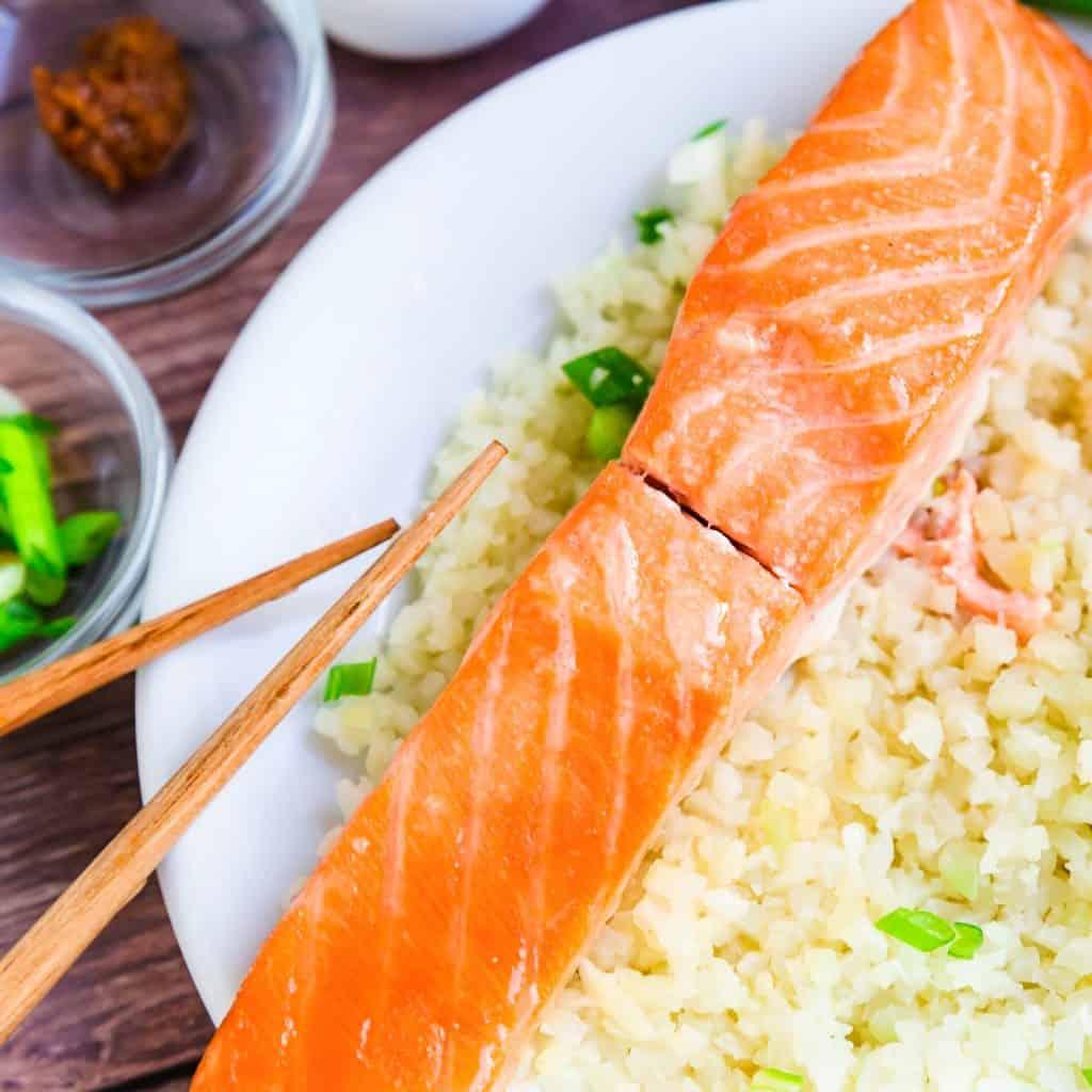 Miso Salmon Marinade wCauliflower Rice LowCarbingAsian Pic 2