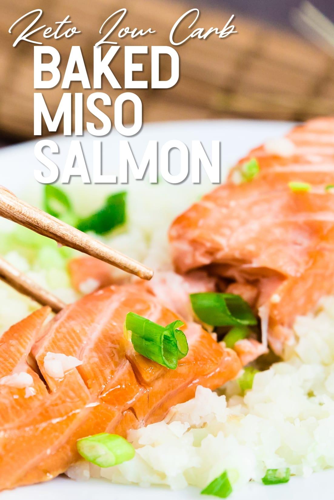 Miso Salmon Marinade with chopsticks