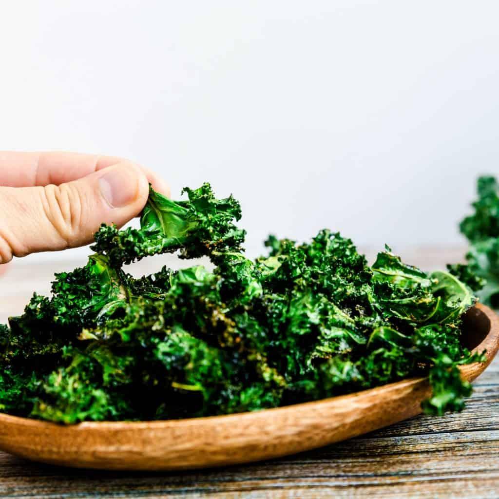 Salt n' Onion Garlic Kale Chips LowCarbingAsian Pic 1