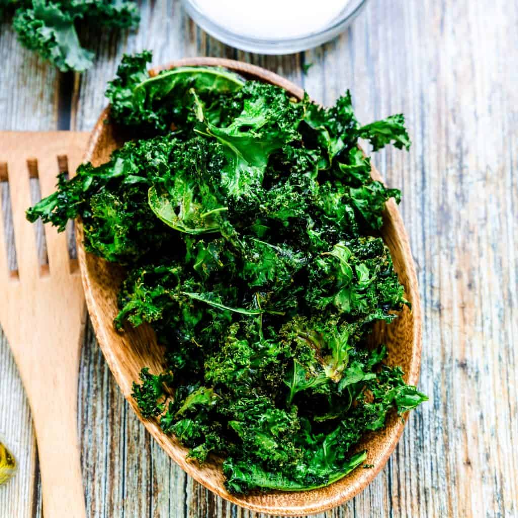 Salt n' Onion Garlic Kale Chips LowCarbingAsian Pic 2