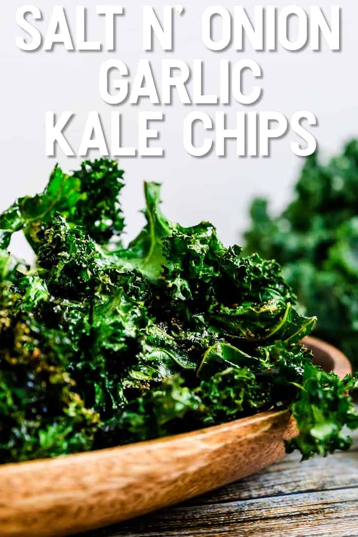 Salt n' Onion Garlic Kale Chips LowCarbingAsian Pin 1