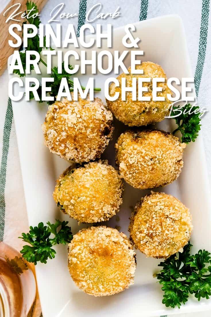 Spinach and Artichoke Cream Cheese Balls LowCarbingAsian Pin 1