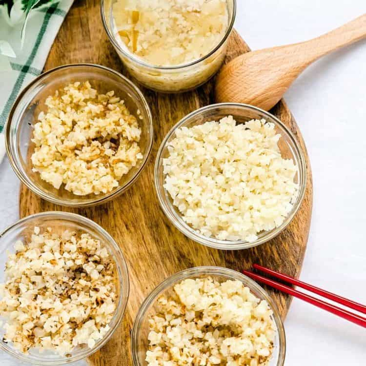 Ways to Prepare Cauliflower Rice LowCarbingAsian Cover