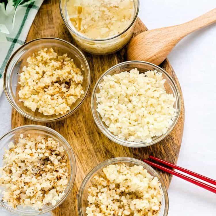 Ways to Prepare Cauliflower Rice LowCarbingAsian Cover