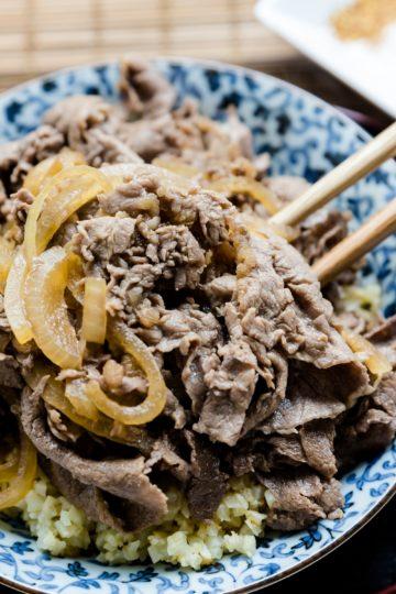 keto Japanese Gyudon Beef Bowl cover