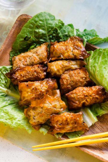 keto Vietnamese Inspired Bite Size Egg Rolls cover