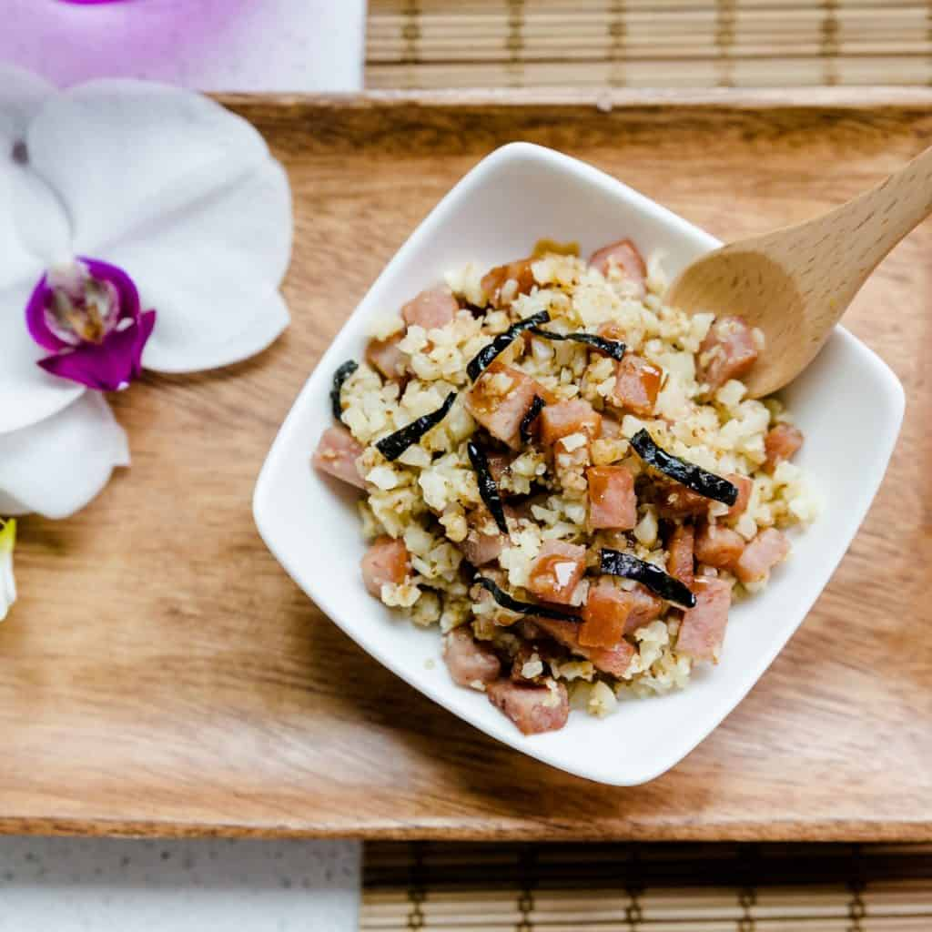 keto Hawaiian Garlic Spam Musubi in a Bowl pic