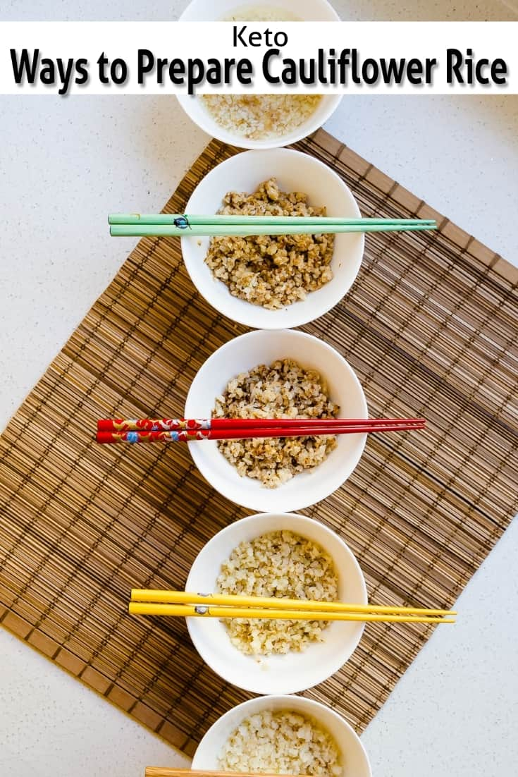 keto ways to Prepare Cauliflower Rice pin 1