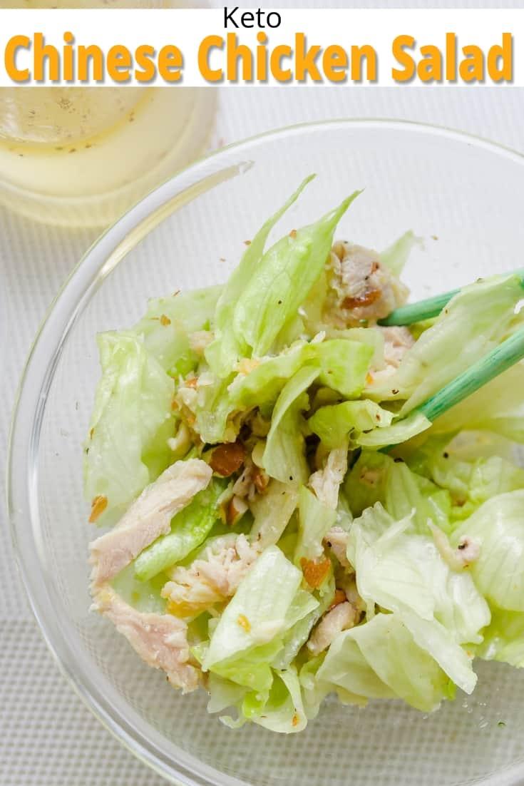 keto Chinese Chicken Salad pin 2