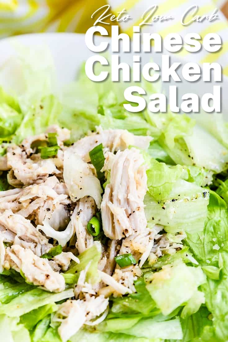 Keto Low Carb Chinese Chicken Salad