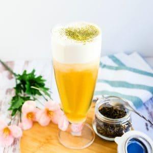 Cream Cheese Foam Green Tea LowCarbingAsian Pic 1