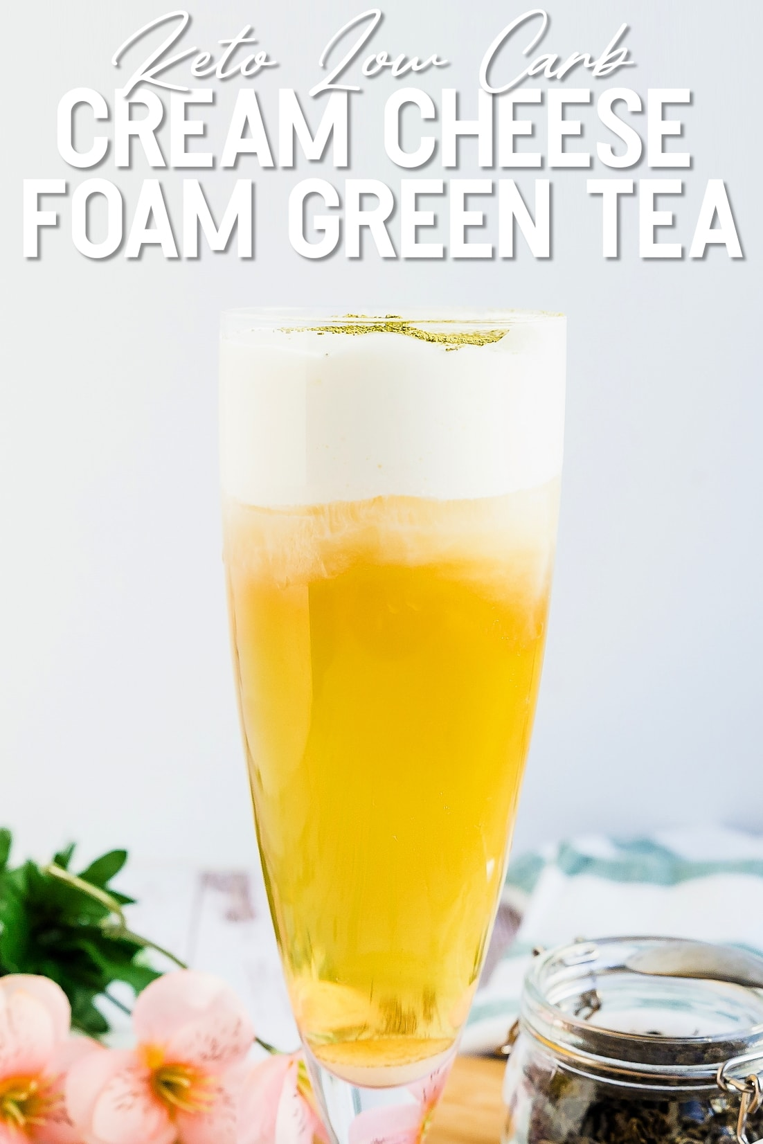 Cream Cheese Foam Green Tea Side View