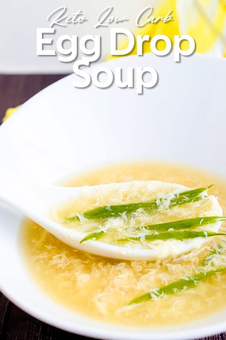 Keto Low Carb Egg Drop Soup