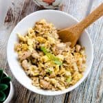 Garlic Chicken Cauliflower Fried Rice