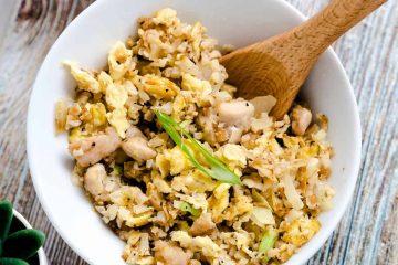 Garlic Chicken Cauliflower Fried Rice