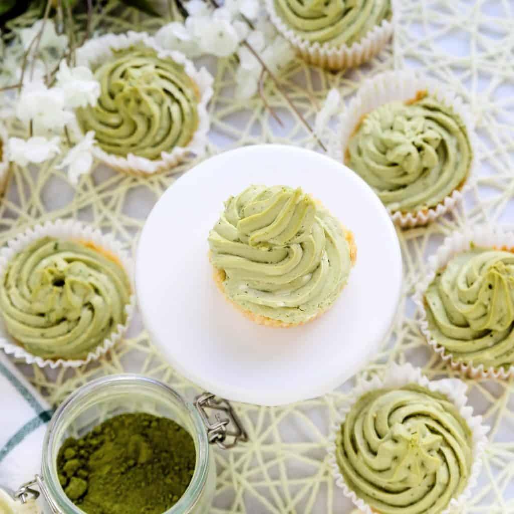 Green Tea Cheesecake Mousse Tart LowCarbingAsian Pic 2