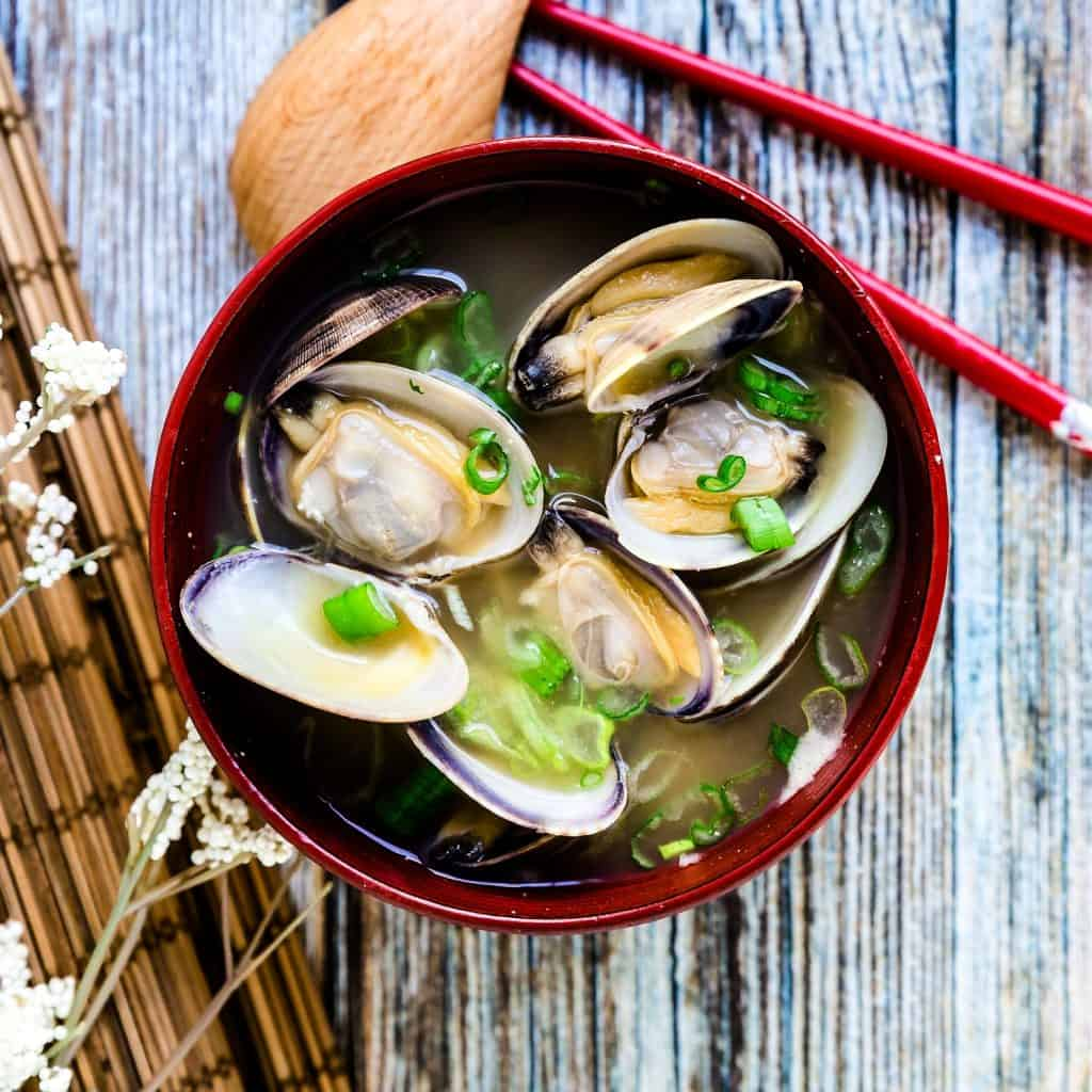 Japanese Asari Clam Miso Soup LowCarbingAsian Pic 1