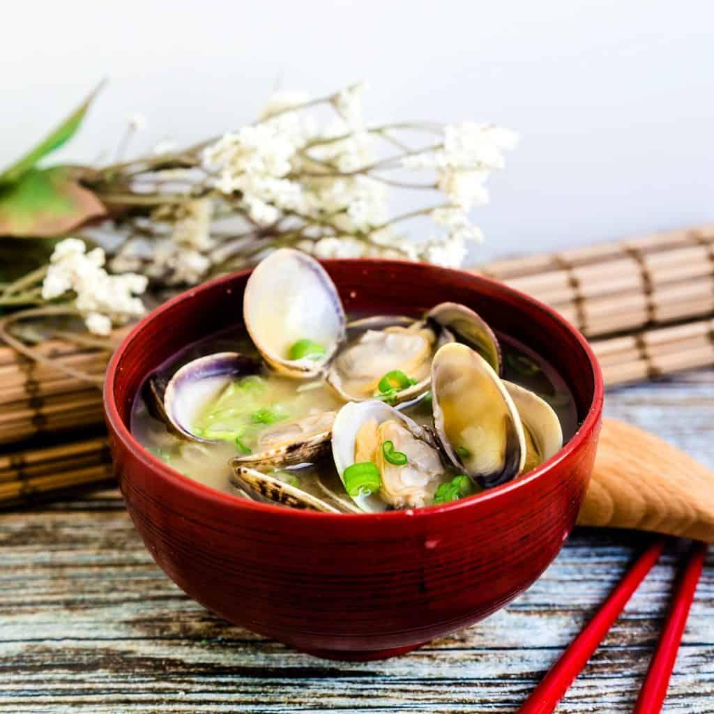Japanese Asari Clam Miso Soup LowCarbingAsian Pic 2